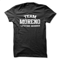 TEAM NAME MORENO LIFETIME MEMBER Personalized Name T-Sh - #womens sweatshirt #green sweater. BUY NOW => https://www.sunfrog.com/Funny/TEAM-NAME-MORENO-LIFETIME-MEMBER-Personalized-Name-T-Shirt.html?68278