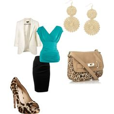 Cute summer work outfit  created by   jessica-bealey.polyvore.com