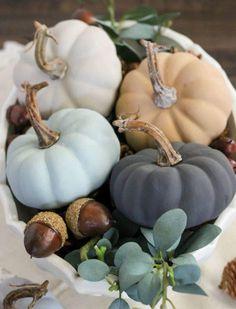 Vintage Inspired Painted Pumpkins | AllFreeHolidayCrafts.com
