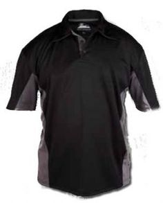 282d21ba6506 Buy Zephyr Polo Shirt Black   Grey online today from just Visit us to see  our full range of Polo Shirts.