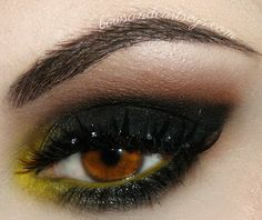 Black and yellow eye makeup