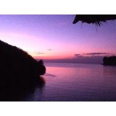 Sunset on Natago beach Philippines
