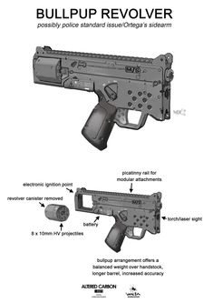 Billedresultat for altered carbon weapons Sci Fi Weapons, Weapon Concept Art, Fantasy Weapons, Weapons Guns, Guns And Ammo, Rifles, Altered Carbon, Future Weapons, Gun Art