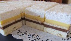 Vynikající řezy plné vanilkového a čokoládového krému + na vrchu vynikající šlehačka.