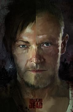 The Brothers Dixon - Daryl and Merle -The Walking Dead. -amazing art, but I can't make out the artist's name The Walking Death, Walking Dead Zombies, Fear The Walking Dead, Insane Movie, Merle Dixon, Memes, Good And Evil, Stuff And Thangs, Film Serie