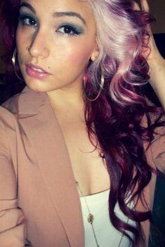 Love this purple hair