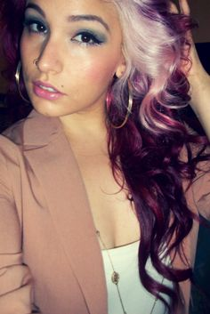 Y can't I work up three nerve & just do it already!!!... Another beautiful unique hair color!