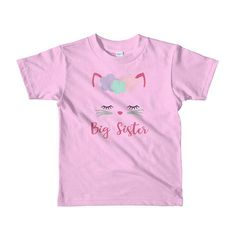 Girls Kitty Cat Big Sister Shirt I'm Going to be a Big