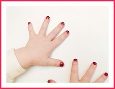 Ladybug Fingernails.  I did this to my oldest daughter once when she was little.  So cute.