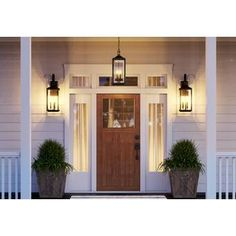 Charleston 1 - Bulb H Outdoor Wall Lantern Front Door Lighting, Garage Lighting, Outdoor Wall Lighting, Front Porch Lights, Outdoor Garage Lights, Outside Lights On House, Outdoor Farmhouse Lighting, Lighting Ideas, Rustic Outdoor