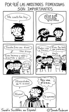Ilustraciones Sarah Andersen. Importancia de las amistades femeninas