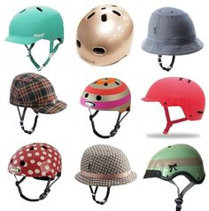 These female bicycle helmets are so cute!!