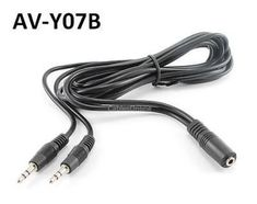 6ft 3.5mm Stereo Female to 2-Male Y-Splitter Audio Cable CablesOnline AV-Y07B