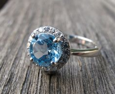 December Birthstone Blue Topaz via ETSY