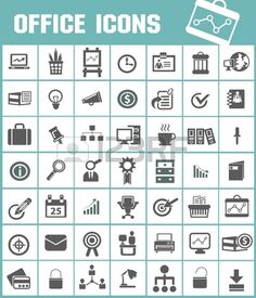 Office icon Stock Vector