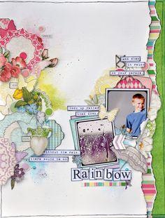 Rainbow_web neat paintbrush technique for watercolor look