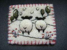 +Hand+Made+Needle+Felted+Brooch/Gift++++++++One+Snowy+Day++++++by+Tracey+Dunn
