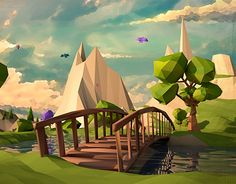 """Check out this @Behance project: """"Low Poly-Orange Tree"""" https://www.behance.net/gallery/22944803/Low-Poly-Orange-Tree"""