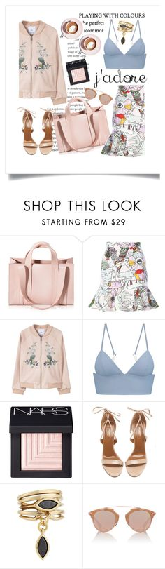 """Keeping busy............."" by style-stories ❤ liked on Polyvore featuring Corto Moltedo, Mary Katrantzou, MANGO, T By Alexander Wang, Martha Stewart, NARS Cosmetics, Aquazzura, Eddie Borgo and Christian Dior"