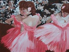Edgar Degas DANCERS IN PINK Acrylic Painting Kit 12x16