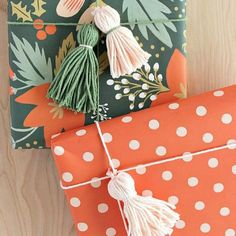 Wrapping presents? Add a DIY Yarn Tassel for a cute and fun look! Easy step by step tutorial.