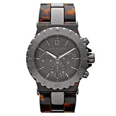 Reloj hombre cronógrafo aluminio/policarbonato - marrón/gris