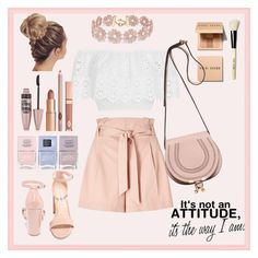 """""""its the way I am"""" by ambershad ❤ liked on Polyvore featuring Bobbi Brown Cosmetics, Miss Selfridge, Miguelina, Steve Madden, Chloé, BaubleBar, Dolce Vita, Nails Inc. and Maybelline"""