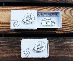 Muttertagsgeschenk basteln Streichholzschachtel