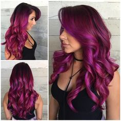 Are you looking for unique hair color ideas for winter and spring? See our colle… Are you looking for unique hair color ideas for winter and spring? See our collection full of unique hair color ideas for winter and spring and get inspired! Hair Color Purple, Hair Dye Colors, Cool Hair Color, Burgundy Colour, Burgundy Highlights, Color Highlights, Unique Hair Color, Pink Color, Red Purple Hair