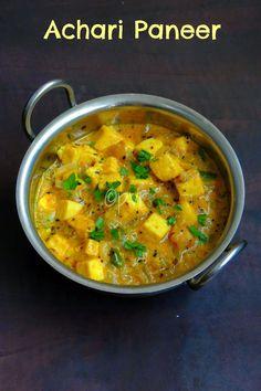Achari Paneer/Indian cheese paneer in pickling sauce