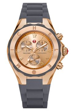 This will be on my wrist very soon!     MICHELE 'Tahitian Jelly Bean' Rose Gold Watch, 40mm available at #Nordstrom