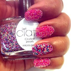 Ciate Caviar Manicure: Looks likes hundreds and thousands Multicoloured Nails, Hair And Nails, My Nails, Caviar Manicure, Nail Mania, Funky Nails, Rainbow Nails, Pretty Nails, You Nailed It