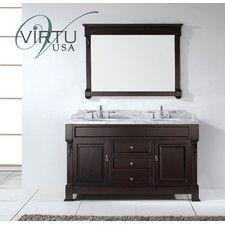 """Huntshire 59"""" Double Bathroom Vanity Set with Mirror"""