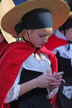Folk costume, Bazas, Aquitaine, France