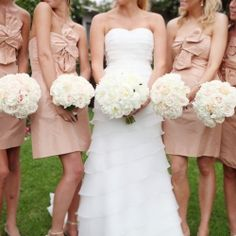 The Challenge: Fine amazing blush bridesmaids dresses for three different budgets. See how we did!
