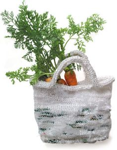 Who knew, a shopping bag made of recycled grocery bags