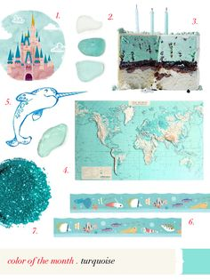 tales from the sea #turquoise #virr #tales #sea #moodboard