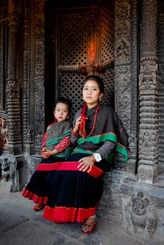 Asia: Hindu Newari girls, Nepal