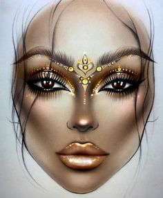 New Makeup Artist Illustration Face Charts Ideas New Makeup Artist Illustration Face Charts IdeasYou can find Face charts and more on our . Looks Halloween, Halloween Makeup, Mac Face Charts, Gold Makeup Looks, Makeup Illustration, Makeup Face Charts, Makeup Drawing, Makeup Wallpapers, Maquillage Halloween