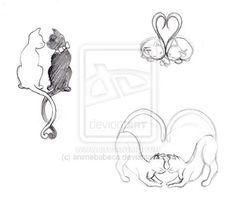 Cat Tattoos by *Andlynne on deviantART