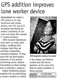 GPS Addition Improves Lone Worker Device
