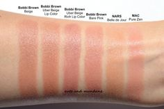 Bobbi Brown Uber Beige is a well loved basic nude lipstick from regular lip color line. In the recent Bobbi Brown Uber Basics (. Lipstick Swatches, Makeup Swatches, Makeup Dupes, Lipsticks, Bobbi Brown Lipstick, Nude Lipstick, Milani Lipstick, Lipstick Shades, Makeup Lipstick