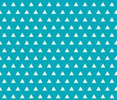 turquoise triangles fabric by ivieclothco on Spoonflower - custom fabric