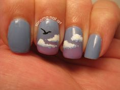 sonomabento: I've looked at clouds from both... | fuck yeah nail art!