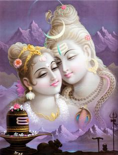 Shiva & Parvati - Divine Soulmates in their endless and unconditional love.