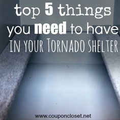 E- After last night's even here in Oklahoma, I thought I would share an old (but good) post. Let me know what you keep in your shelter by leaving a comment below.  This year is our first storm season to have a shelter… ever. Two years ago, we got a scare …