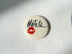 Vintage Early 80s The Motels Lipstick Kiss Logo Pin / Button / Badge by…