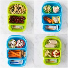 Arbonne 30 Days To Healthy Living Discover 4 Allergy-Friendly Lunch Boxes 4 Allergy-Friendly Lunches! Easy KID-FRIENDLY lunch ideas including delicious snacks from Enjoy Life Foods. All gluten dairy egg soy and nut-free! Kids Lunch For School, Healthy Lunches For Kids, Healthy School Lunches, Lunch Snacks, Kids Meals, Healthy Snacks, Healthy Recipes, Bento Lunch Box Kids, Lunch Boxes For Kids