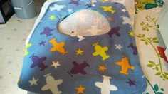 Airplanes and stars flannel baby bibs by RoseCityCrafter on Etsy