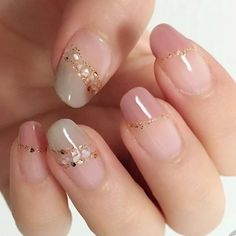 Adorable 40 Amazing Spring Nail Art Designs Ideas To Try In 2019 March 08 2020 at nails Cute Pink Nails, Pink Nail Art, Pretty Nail Art, Beautiful Nail Art, Elegant Nail Art, Elegant Nail Designs, Korean Nail Art, Korean Nails, Korean Art